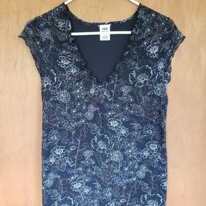Old Navy fall print blouse